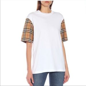Burberry Vintage Check Sleeve Top, NWT!